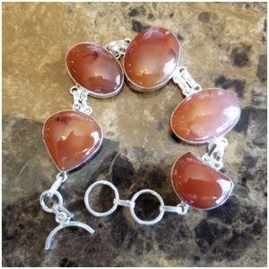 """Jewelry - Huge Natural Carnelian Bracelet 9"""" long"""